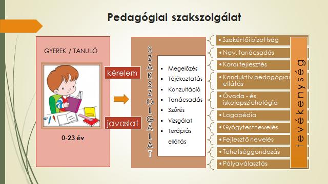 3. ábra: A pedagógiai szakszolgálatok tevékenysége