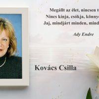 Emlékezünk Kovács Csillára